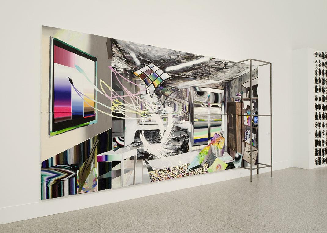«e:\bilder\gesehen\scherbenbrandschatz.jpg, 2011, Mixed Media, 300cm x 600 cm» Ausstellungsansicht Kunsthalle der Bundesrepublik, Bonn, 2011