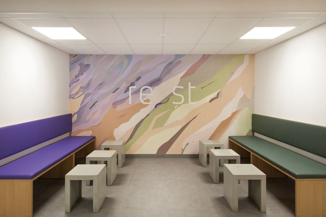 Farbkonzept der Wohnanlage/des Gebäudes/der Immobilie/der Architektur in der Riedeselstrasse re_st