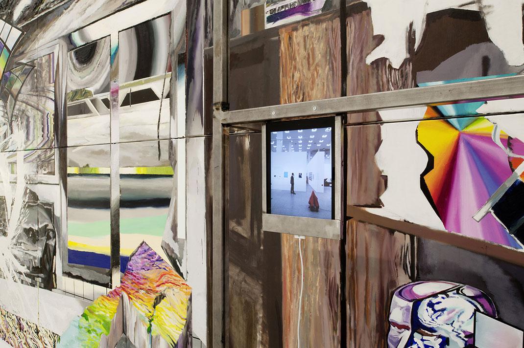 Detail «e:\bilder\gesehen\scherbenbrandschatz.jpg, 2011, Mixed Media, 300cm x 600 cm» Ausstellungsansicht Kunsthalle der Bundesrepublik, Bonn, 2011