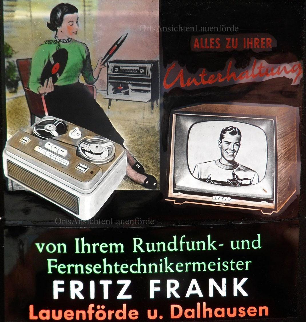 DIA der Kinowerbung von Fernseh Frank. Diese Werbung wurde immer vor dem Film gezeigt. Anfang der 70er.