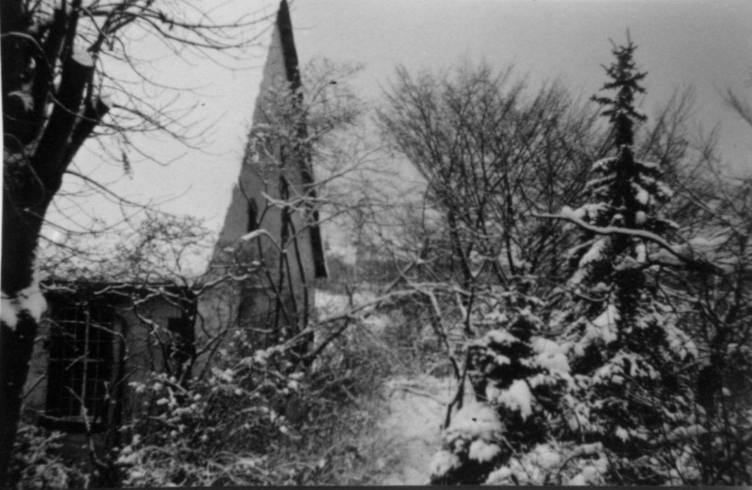 Alter Pfarrgarten ( Aufnahme wurde vom alten Pfarrhaus aus gemacht, heute nicht mehr möglich). 1942
