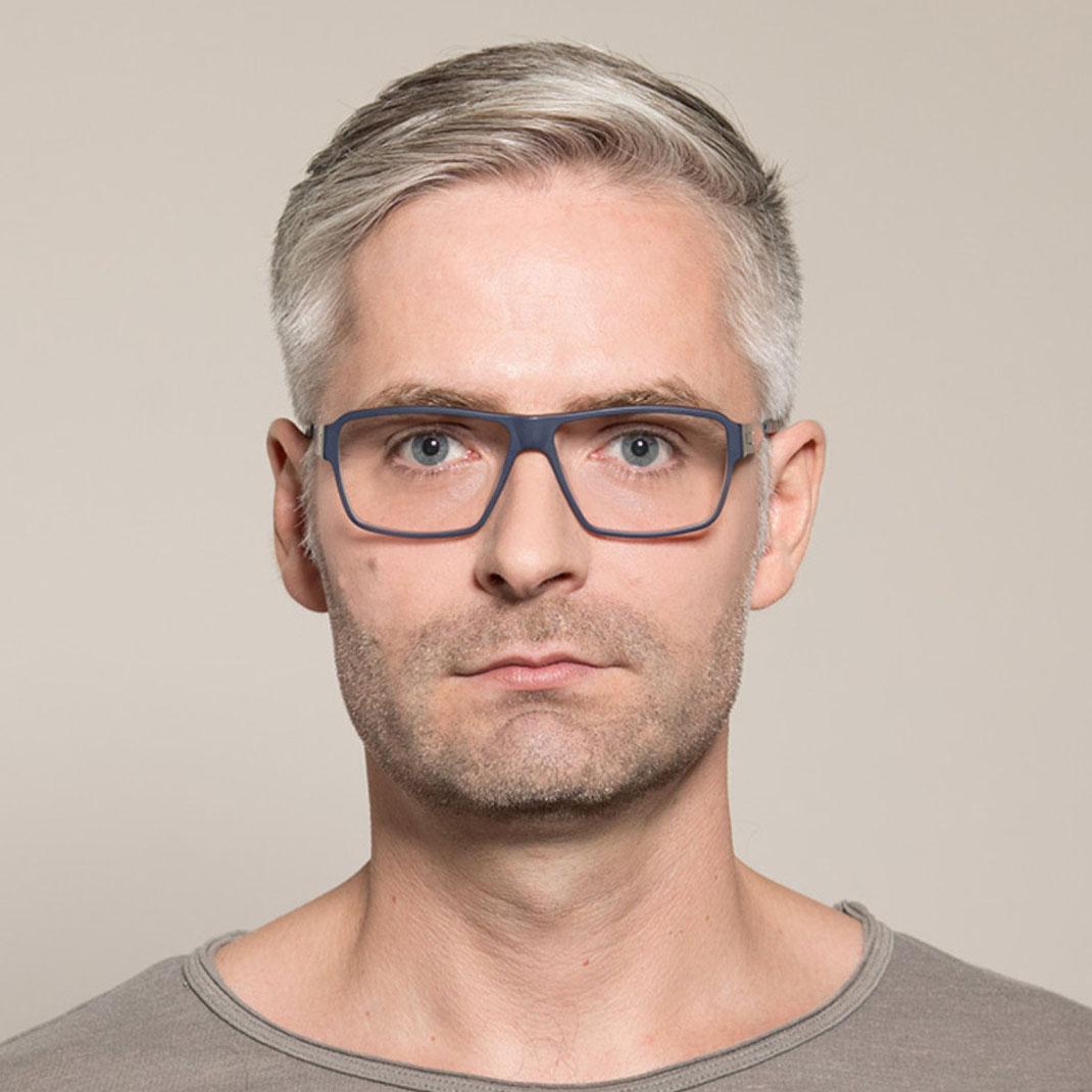 Schraubenlose Brille von ic berlin Modell Kevin D.