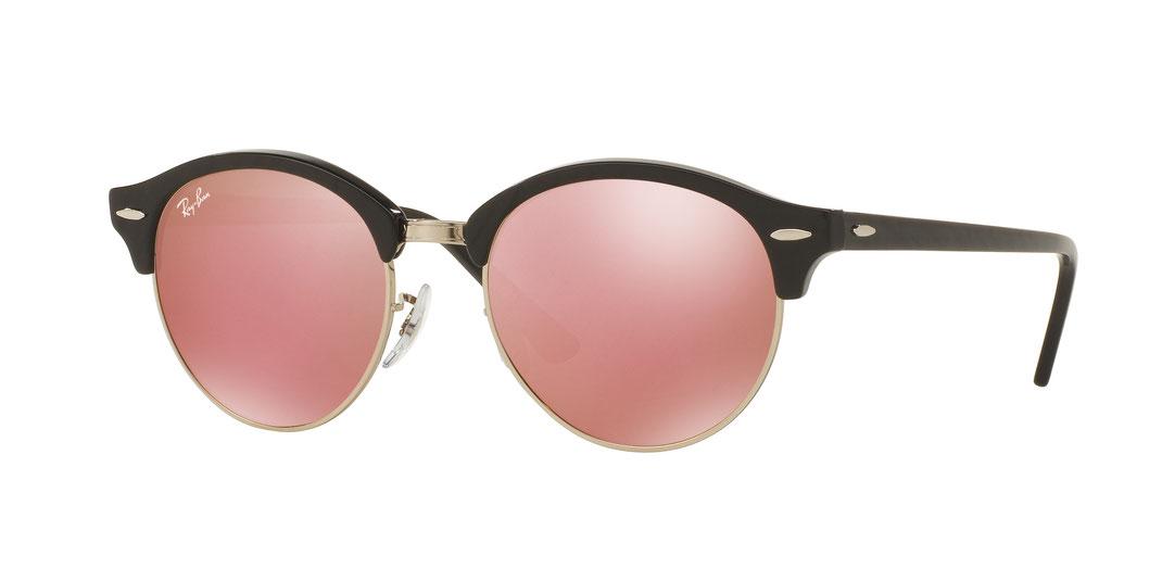 runde Ray Ban Sonnenbrille mit Spiegelgläsern