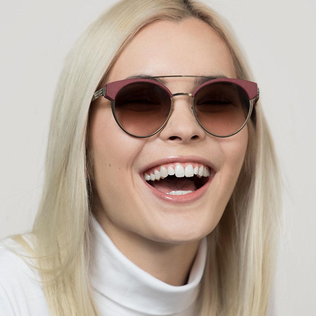 moderne Sonnenbrille Modell Skyline ohne Schrauben von ic-berlin