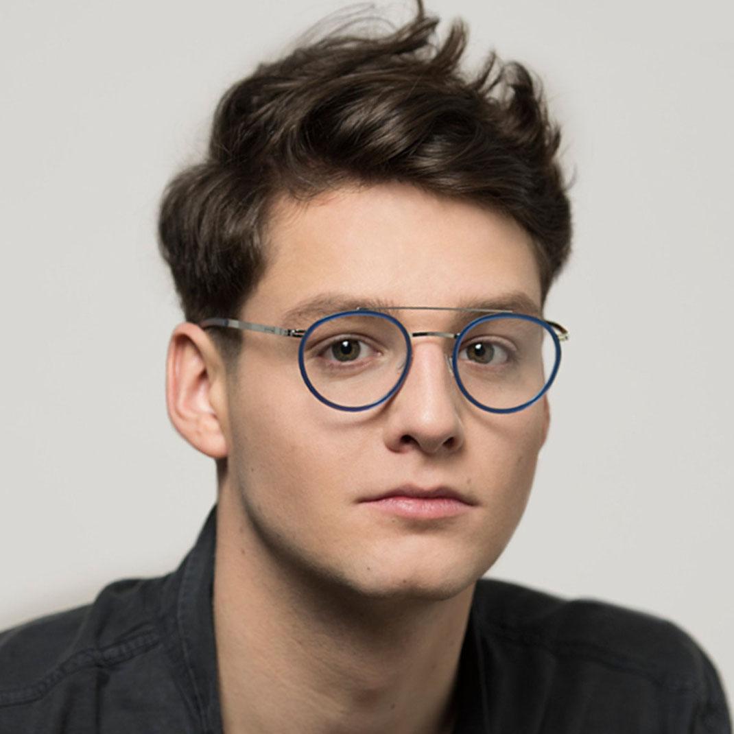 Schraubenlose Brille von ic berlin Modell Buran