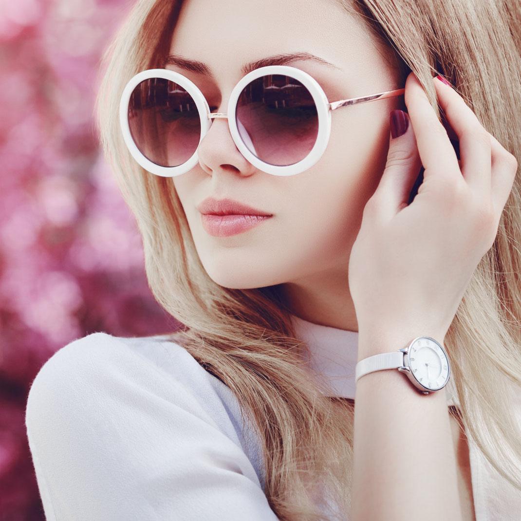 trend runde coole Sonnenbrille