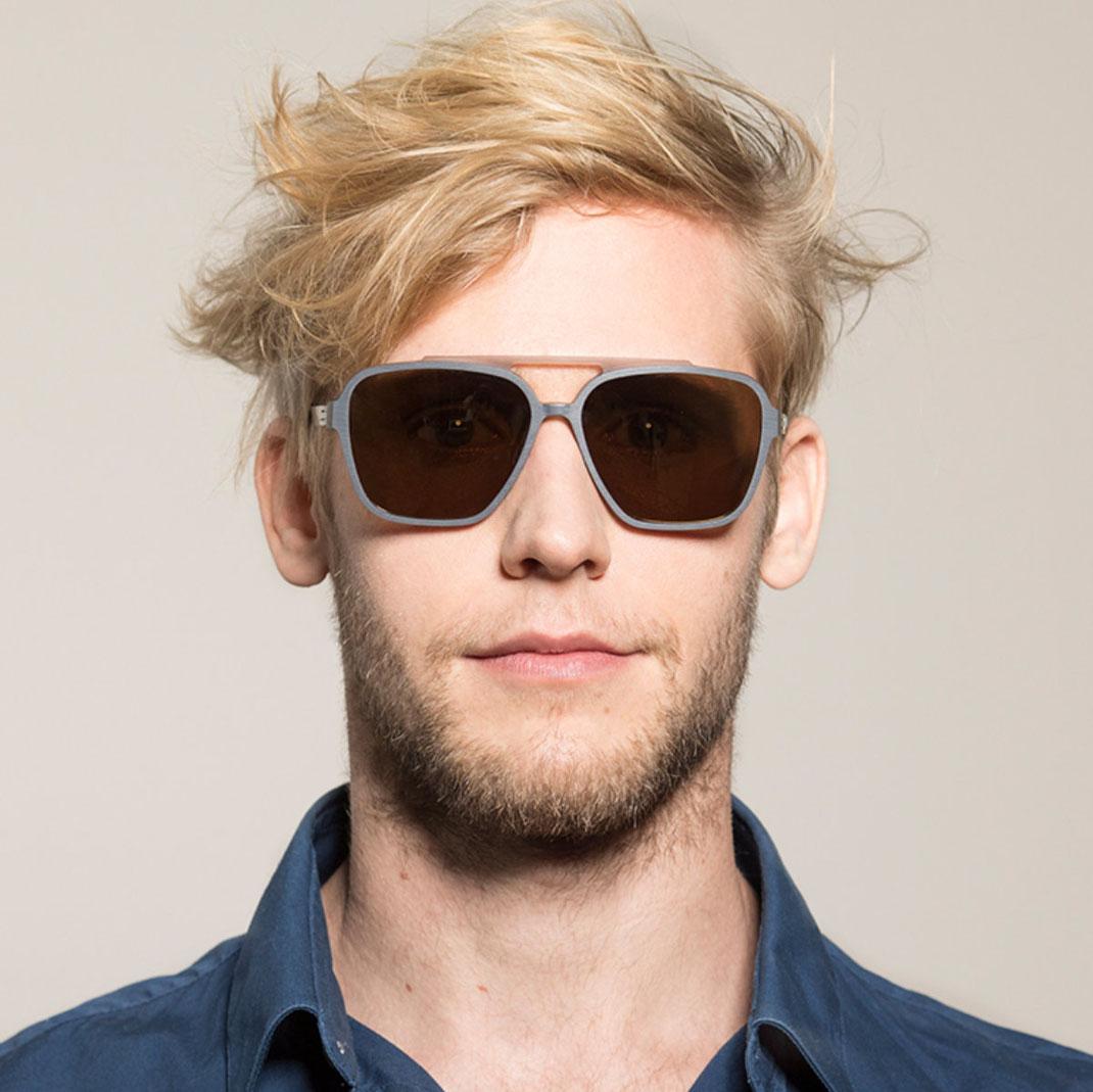modische Sonnenbrille bei Optiker Lieblingsbrille Modell ic-berlin Henrik B.