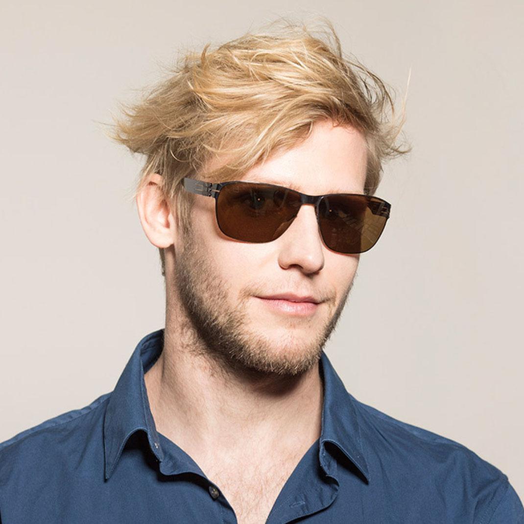 coole Sonnenbrille Männer bei Optiker Lieblingsbrille Modell ic! berlin Robert C.