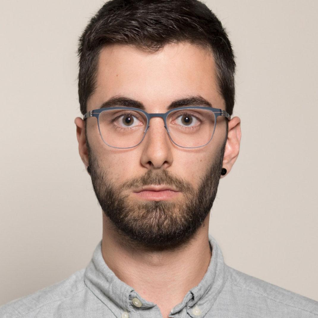 Schraubenlose Brille von ic berlin Modell Ichiro I