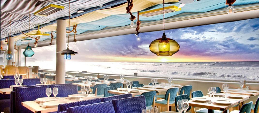 Restaurant mit Meerblick in Biarritz