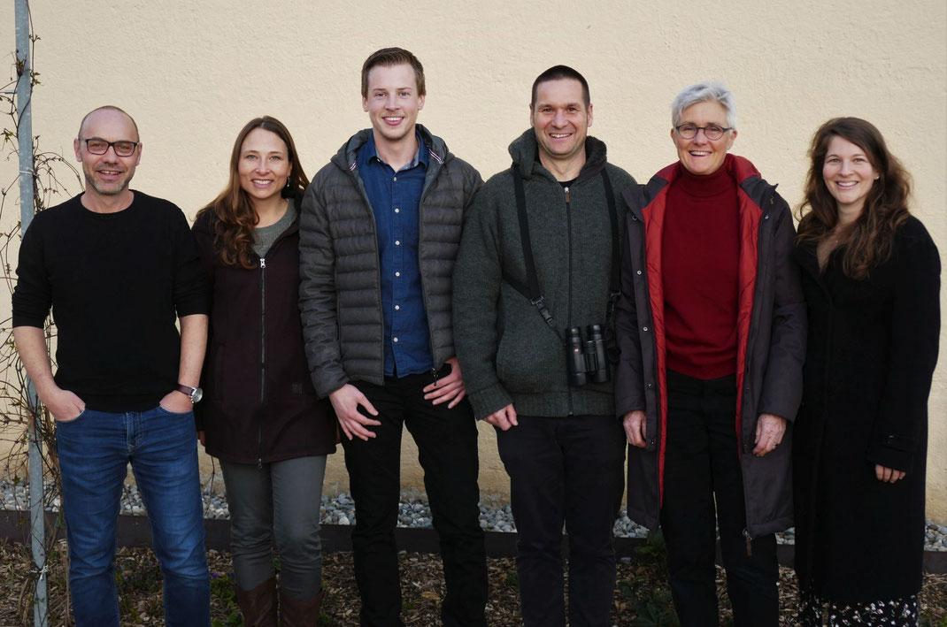 Der neue Turdus-Vorstand: Urs Vetterli, Janine Sägesser, Clemens Gnädinger, Matthias Amsler, Verena Anliker, Jeanine Bolt (Foto: Andreas Reich)