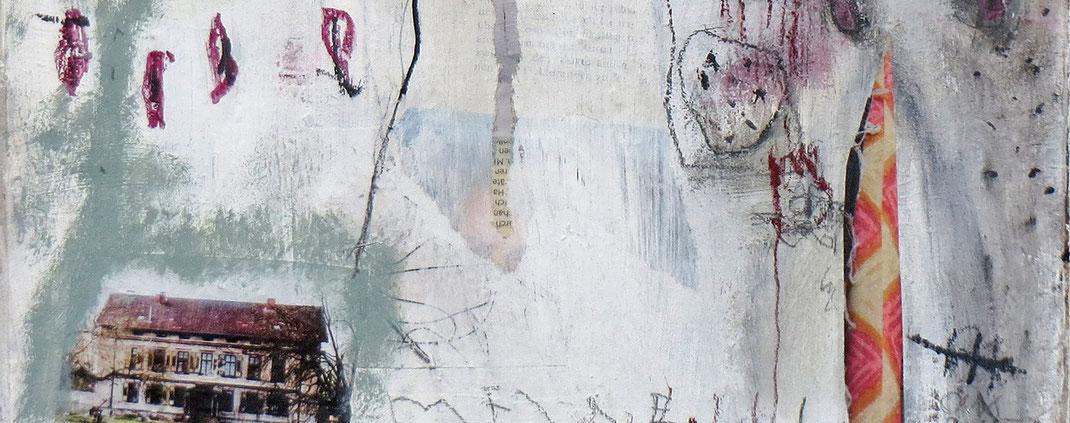 Acryl-Mischtechnikauf Leinwand -Meine Heimat- von der Künstlerin Claudia König