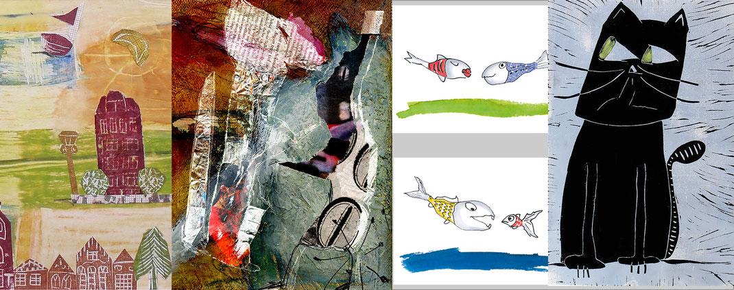 Illustrationen der Künstlerin Claudia König