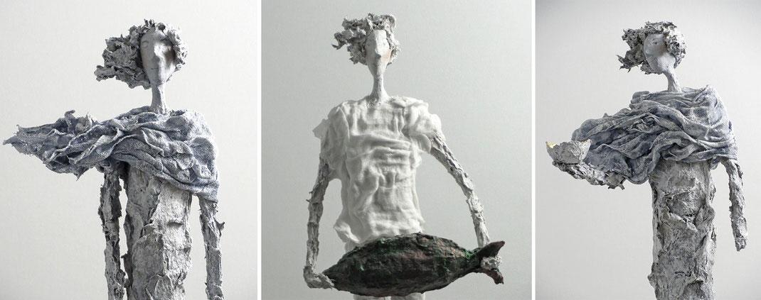 Skulptur / Skulpturen aus Pappmache von der Künstlerin Claudia König