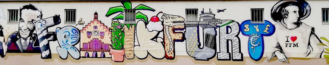 Kleinmarkthalle Frankfurt Graffiti Goethe Römer