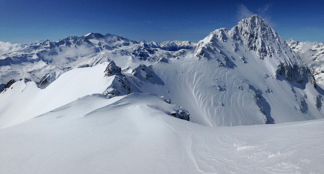 Panoramique depuis le Col de l'Amiante (2 809 m)