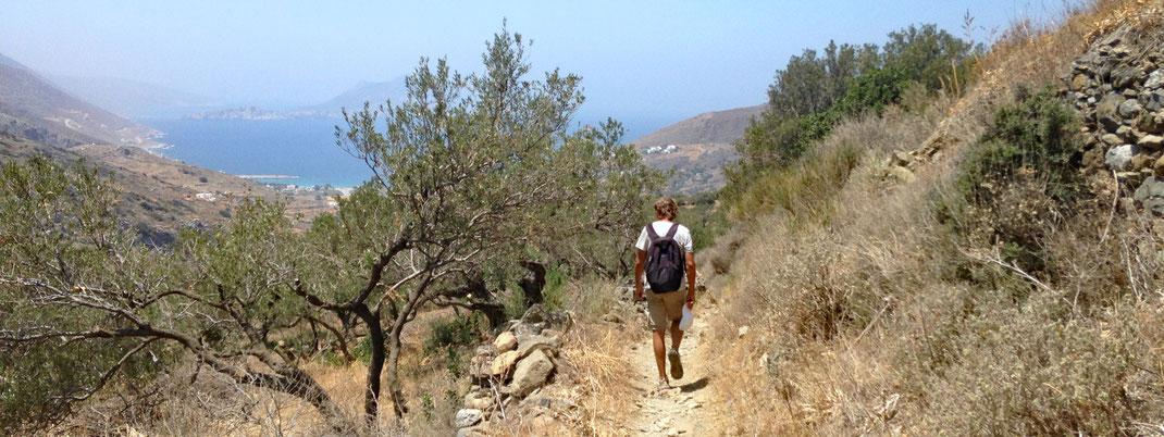 Anafi, Wanderung zum Kap Kalamos