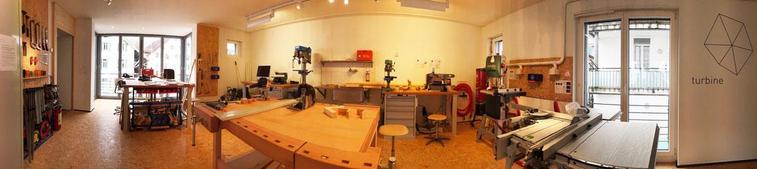 1. Obergeschoss: Holzwerkstatt