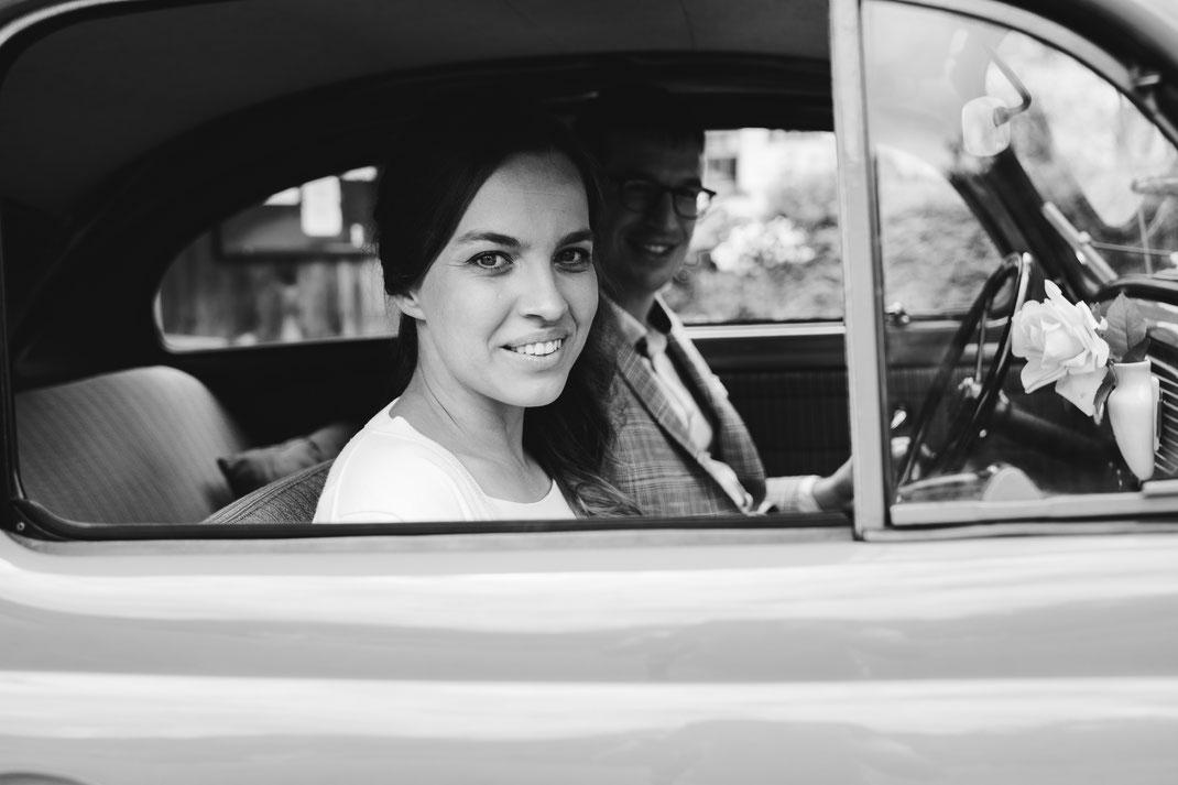 Hochzeit Auto VW Käfer