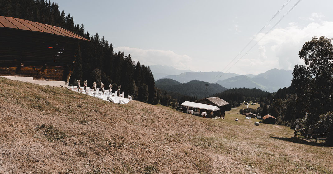 Maiensäss Hochzeit Laax