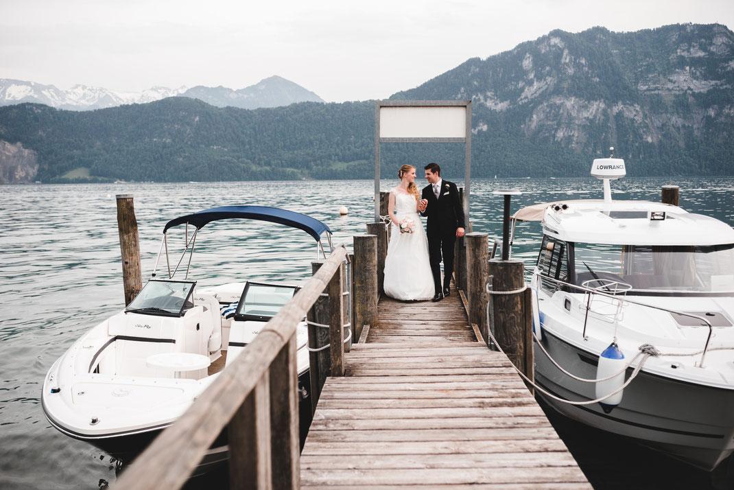 Brautpaar Vierwaldstättersee