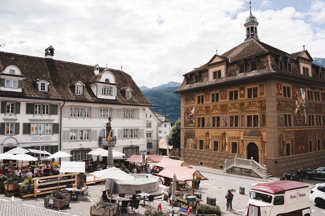 Rathaus Schwyz mit Hauptplatz