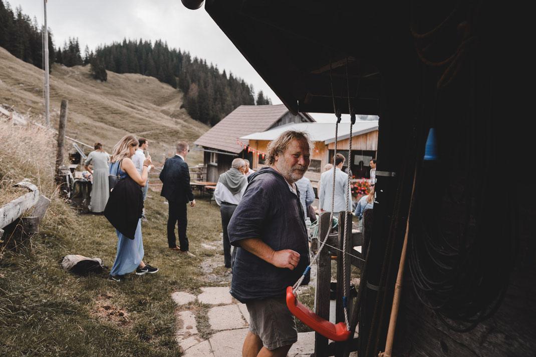 Bauer auf der Alp