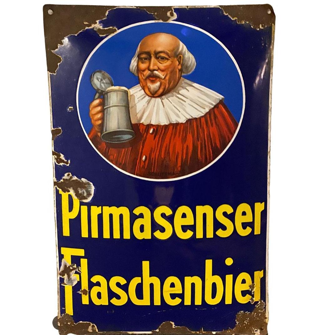 Pirmasenser Flaschenbier Emailleschild