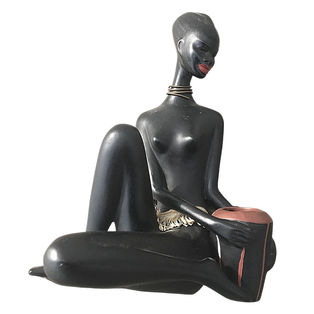 Skulptur von Cortendorf, entworfen vom Modeleur Albert Strunz. Midcentury Kunst par excellence!