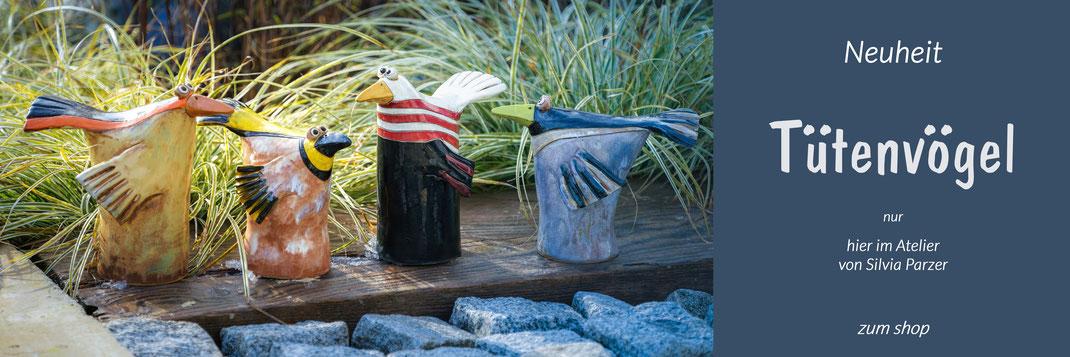 NEUHEIT Tütenvögel nur hier im Atelier von Silvia Parzer