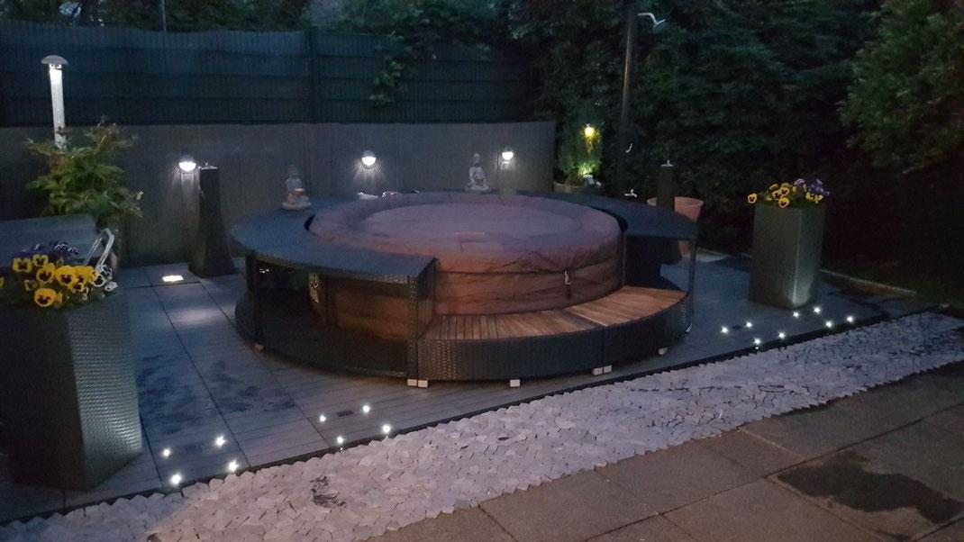 idromassaggio #piscina #esterni #giardino #Bestway #Lay-Z-SPA #rattan #mobile #circolare #scalini #bordo #sandro #shop #vendita #jacuzzi