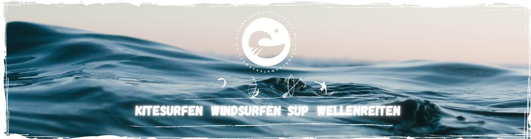 Oceanblue Watersports-Surfschule und Kiteschule an der Ostsee, Kiten lernen, Windsurfen lernen, Sup mieten, Wellenreiten und Kayak mieten, Angeln