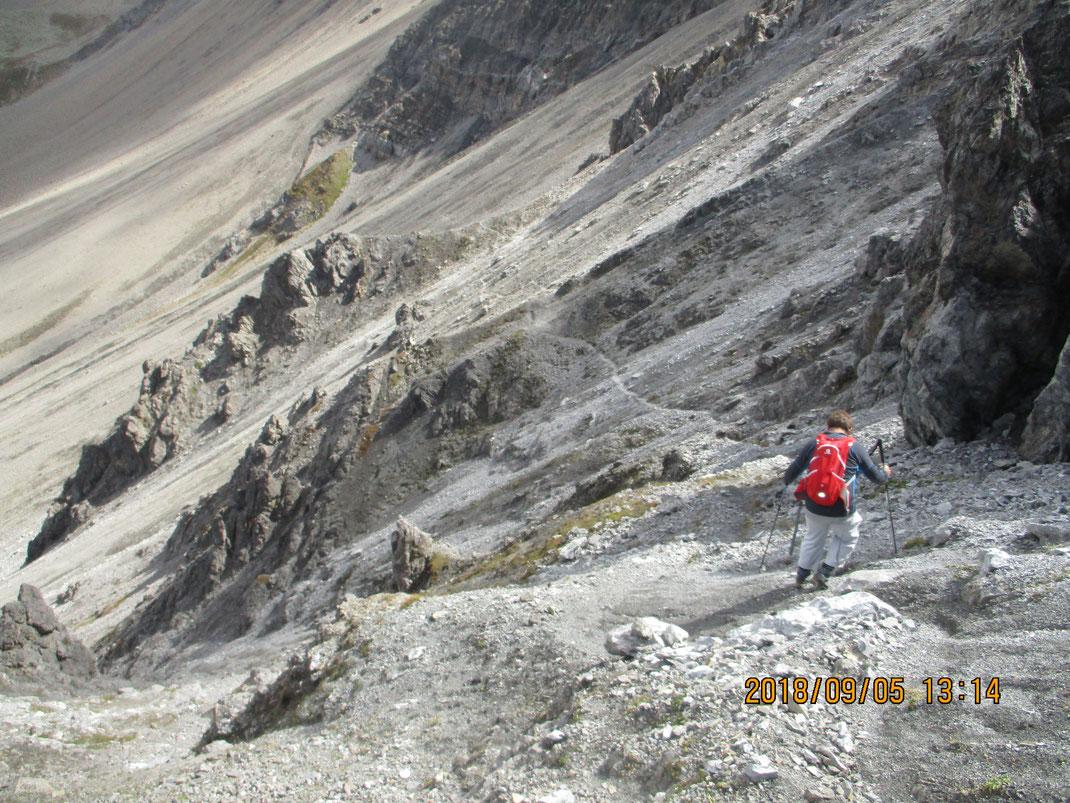 Lenzer Rot Hornのハイキング