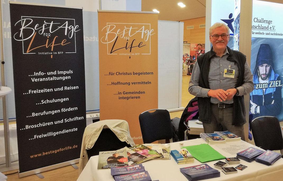 BestAge for life-Stand auf der BFP-Konferenz 2018-09 in Willingen