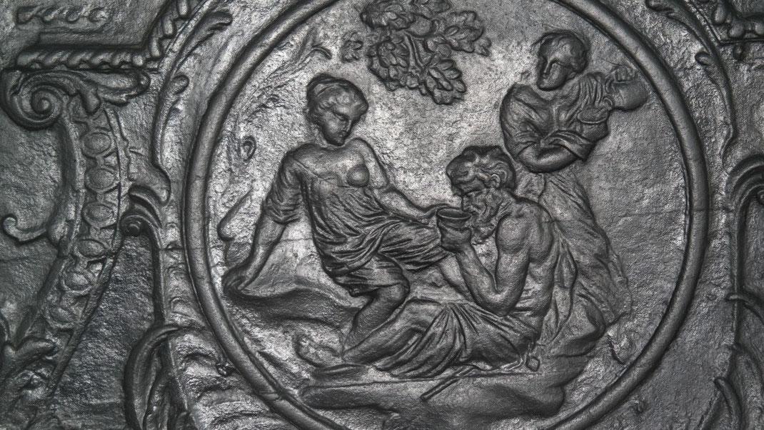 Bild: Detailaufnahme: Loth und seine Töchter - Szene aus dem Alten Testament