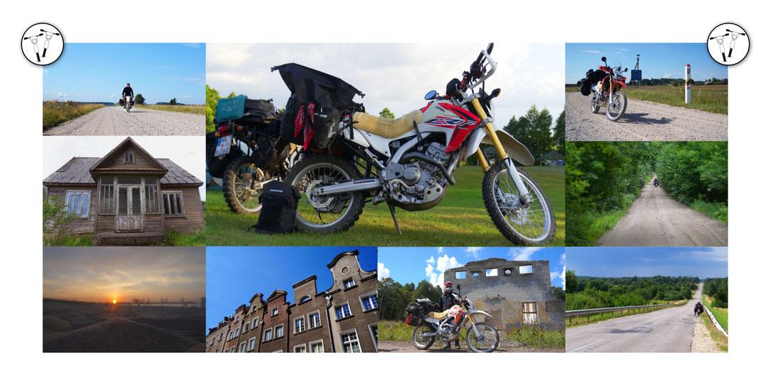 Fotocollage Baltikum Motorrad