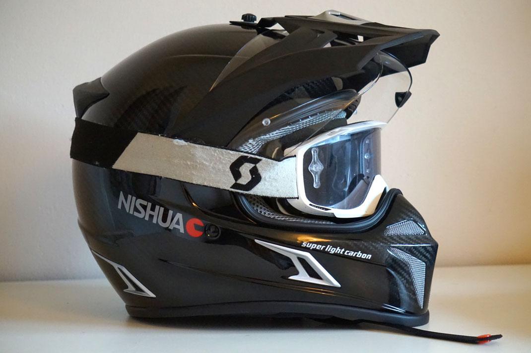 Nishua Carbon Enduro mit Scott OTG Crossbrille