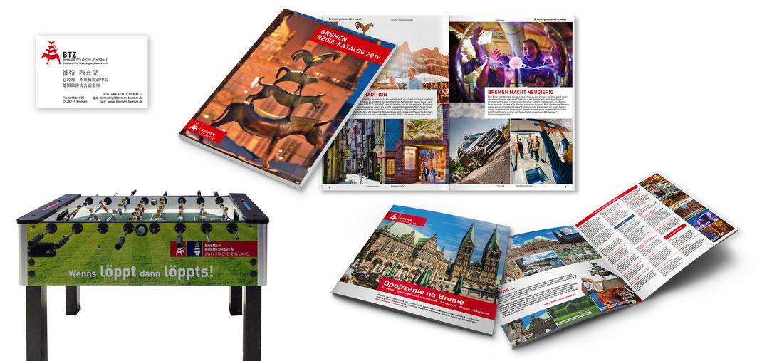 Arbeiten für unseren Kunden BTZ Bremer Touristik-Zentrale