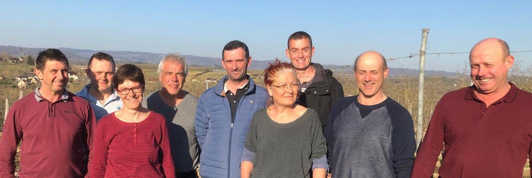 L'équipe de joyeux viticulteurs !