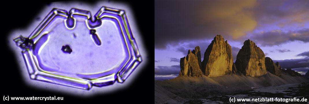 Wasserkristalle; Wasserkristall; Drei Zinnen; Three Peaks; Tre Cime; Water Crystal
