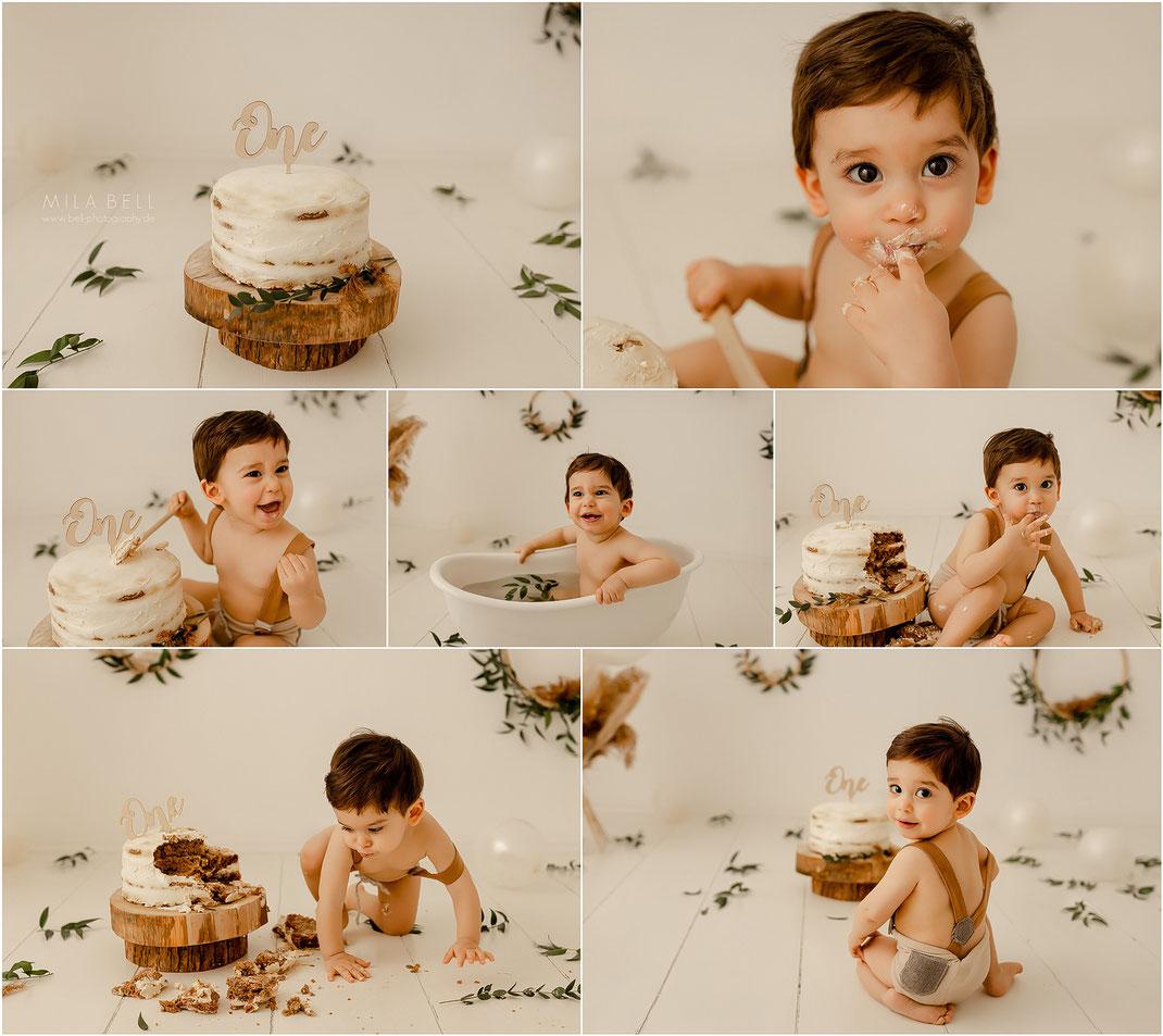 Baby Fotoshooting Cake Smash 1 erster Geburtstag berlin