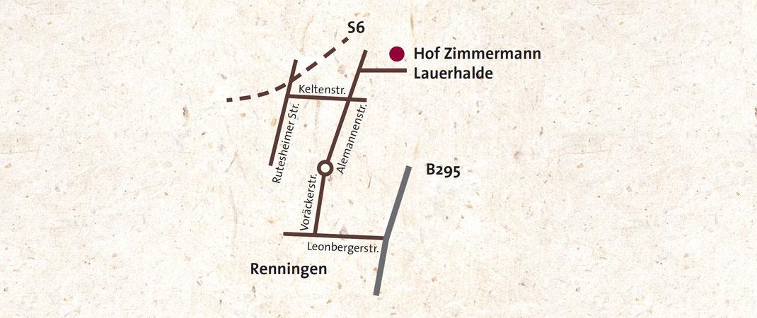 Anfahrt Hoflädle Zimmermann