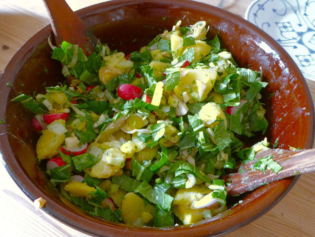 Bild des fertigen Kartoffelsalats