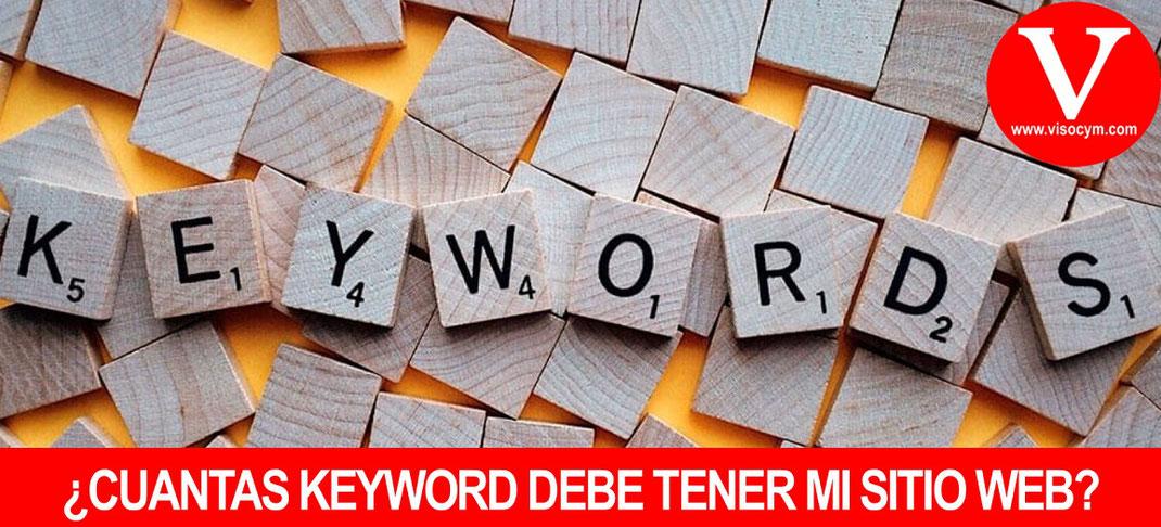 ¿CUANTAS KEYWORD DEBE TENER MI SITIO WEB?