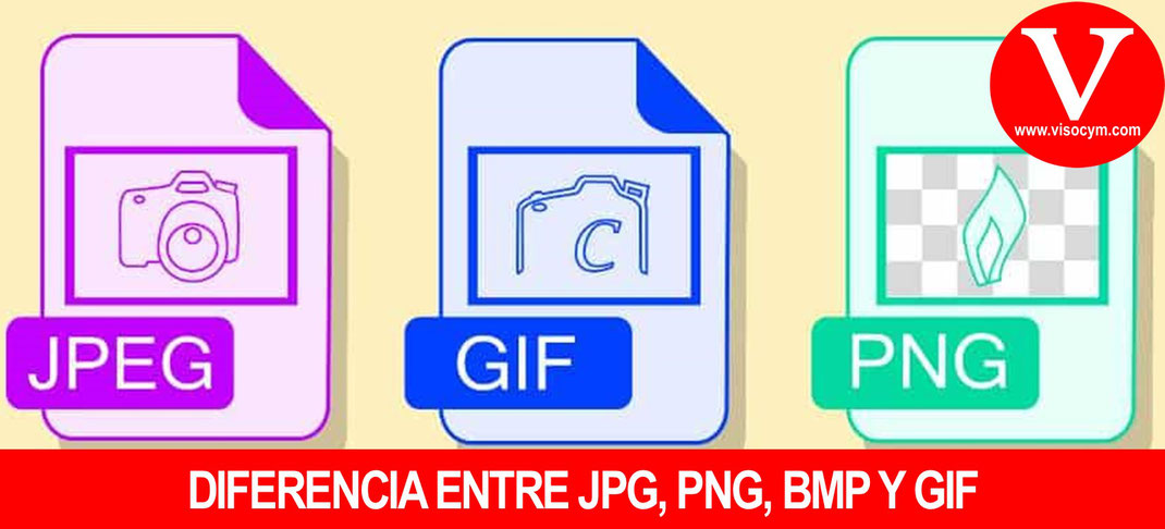 Diferencia entre formato jpg, png, bmp y gif