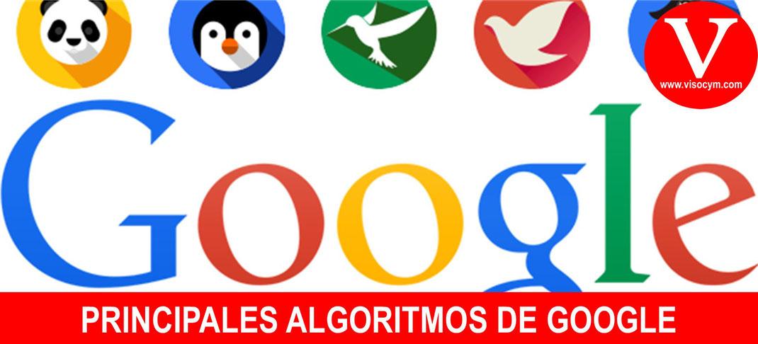 PRINCIPALES ALGORITMOS DE GOOGLE