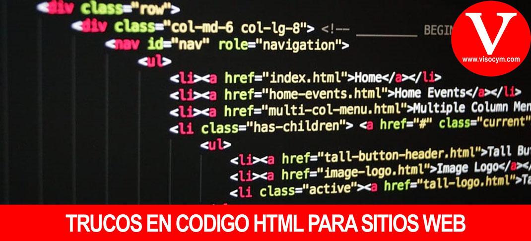 Trucos en HTML para sitios web
