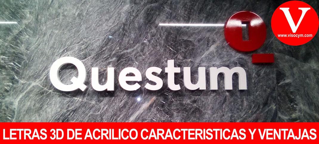 LETRAS 3D DE ACRILICO CARACTERISTICAS Y VENTAJAS