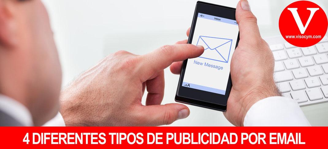 4 DIFERENTES TIPOS DE PUBLICIDAD POR EMAIL