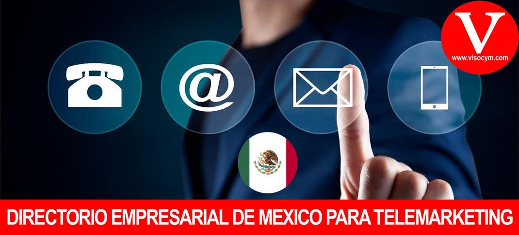 Directorio empresarial de Mexico para telemarketing